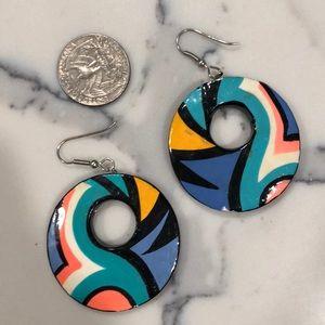 Retro hoop earrings